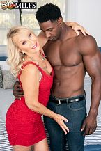 Sandy Pierce screws a bigger than run of the mill, dark-skinned cock